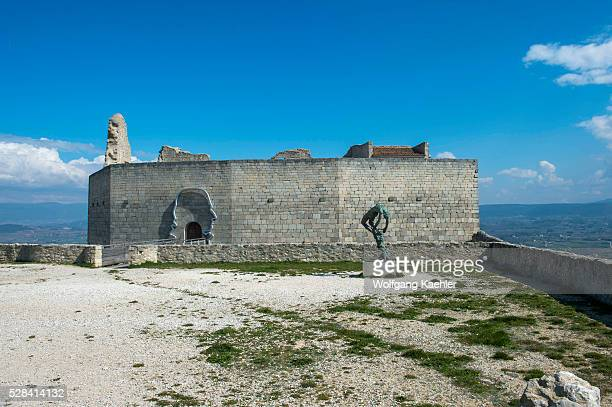 The Chateau de Lacoste in the hillside village of Lacoste in the Luberon in the ProvenceAlpesC��te d'Azur region in southeastern France