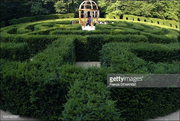"""The """"Chateau des dames"""" in Chenonceaux, France on June 13, 2003 - Reconstruction of a period labyrinth designed under Catherine de Medici."""
