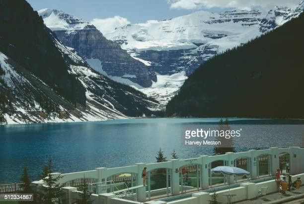 The Chateau Lake Louise on the shores of Lake Louise in Alberta Canada 1967