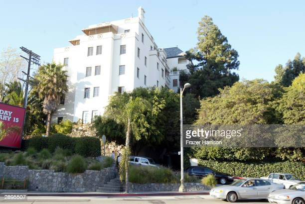The Chateau Marmont Hotel where acclaimed fashion photographer Helmut Newton died Friday after his car sped out of control from the driveway and...