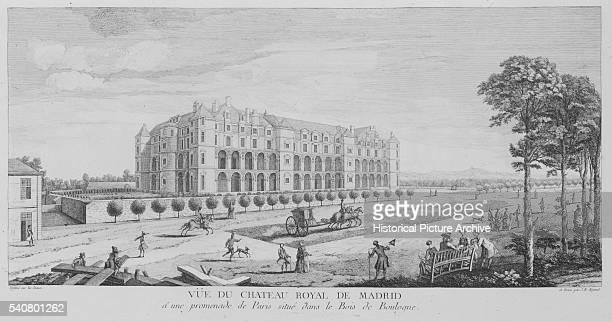 The Chateau Royal de Madrid along the Boid de Boulougne in Paris France