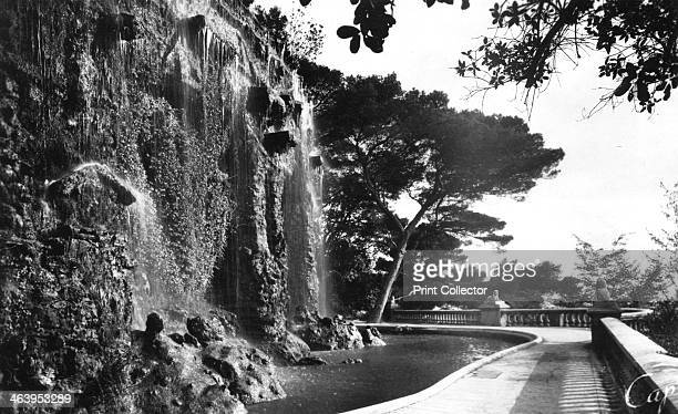 The Chateau Waterfall Nice South of France early 20th century