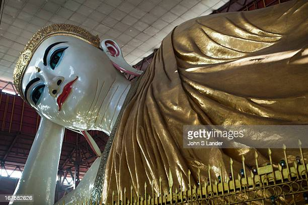 The Chauk Htat Gyi Pagoda is famous for its huge reclining Buddha built in 1966 replacing the old image built in 1907 by Sir Hpo Thar which suffered...