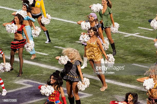 The cheerleaders for the Minnesota Vikings perform during the game between the Minnesota Vikings and the Green Bay Packers on October 27 2013 at Mall...