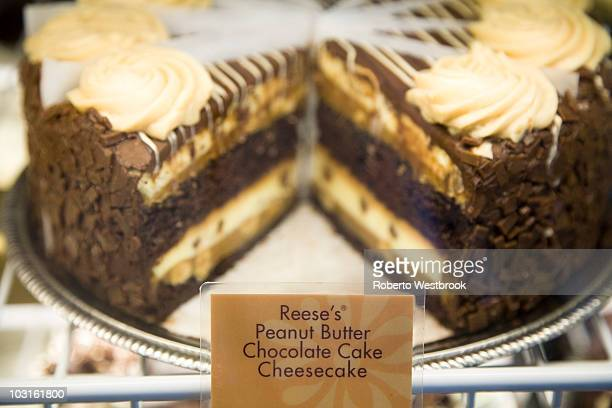 The Cheesecake Factory's newest addition Reese's Peanut Butter Chocolate Cake Cheesecake is revealed on National Cheesecake Day at The Cheesecake...
