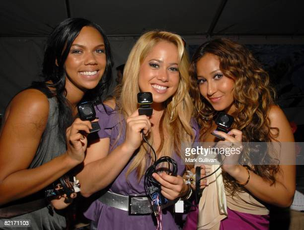 The Cheetah Girls attend the Mattel Celebrity Retreat produced by Backstage Creations at Teen Choice 2008 on August 3 2008 in Universal City...