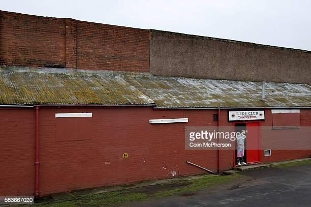 The chef at the social club taking a break prior to the Blue Square North fixture between hosts Workington AFC and Boston United at Borough Park The...