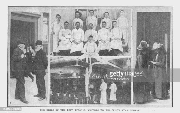 The Chefs of the Lost Titanic' and 'Visitors to the White Star Offices' April 20 1912 'The Chefs of the Lost Titanic' catering staff on the ship...