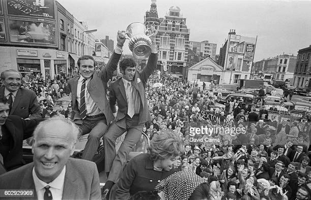 The Chelsea football team return in triumph to the King's Road in London after their 21 victory in the FA Cup Final replay at Old Trafford 30th April...