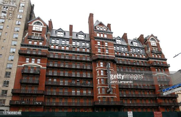 The Chelsea Hotel is seen on October 07, 2020 in New York City. The hotel was built built between 1883 and 1885.