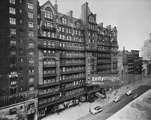 The Chelsea Hotel is shown here at 222 West 23rd Street This is an undated photograph