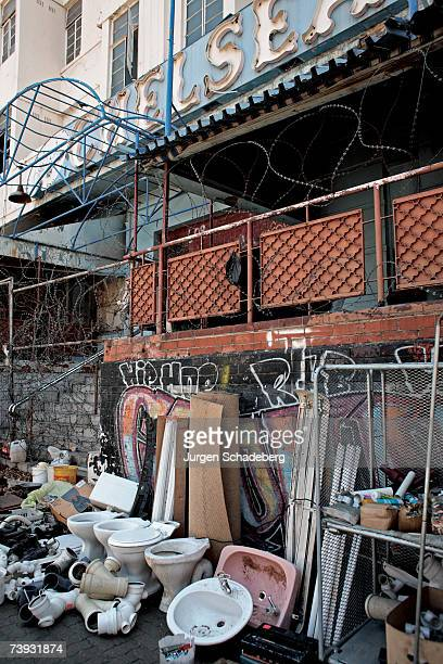 The Chelsea Hotel was renowned for its jazz club but now is a site for traders in the Hillbrow district of Johannesburg circa 2006