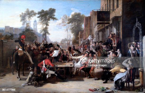 The Chelsea Pensioners Reading the Waterloo Despatch', 1822. Painting in Apsley House, London. Artist David Wilkie.