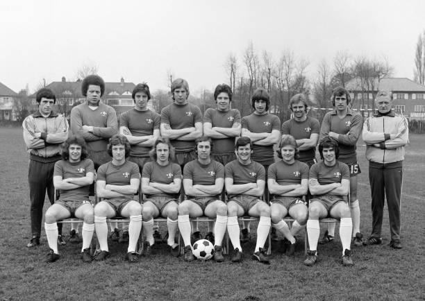 The Chelsea Reserve squad , circa October 1974. Back row : Dario Gradi , Derek Richardson, Tommy Cunningham, Steve Wicks, Tommy Langley, Kenny Swain,...