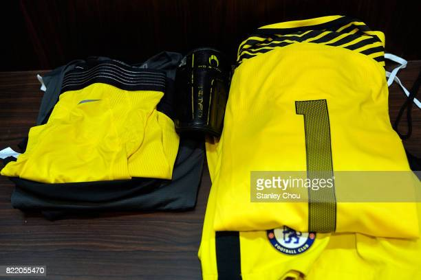The Chelsea team shirt of Willy Caballero in the dressing room prior to kick off during the International Champions Cup match between Chelsea FC and...
