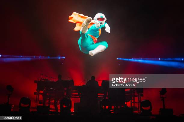 The Chemical Brothers perform on the Main Stage on the third day of TRNSMT Festival 2021 on September 12, 2021 in Glasgow, Scotland.