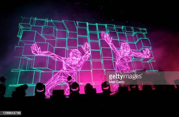 The Chemical Brothers perform on the Other Stage Stage at the 2019 Glastonbury Festival held at Worthy Farm, in Pilton, Somerset on June 30, 2019...