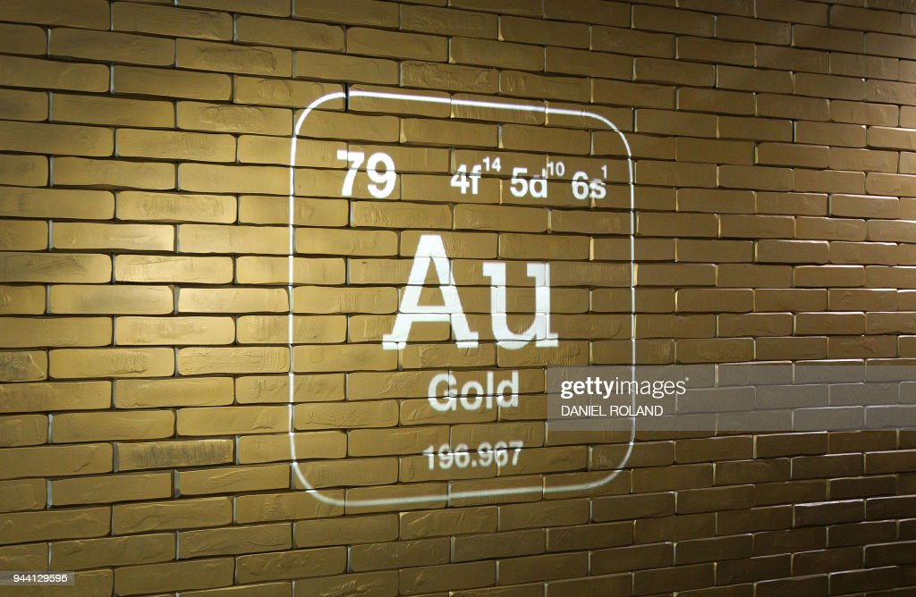 The Chemical Element Of Gold Is Seen At The Entrance Of The