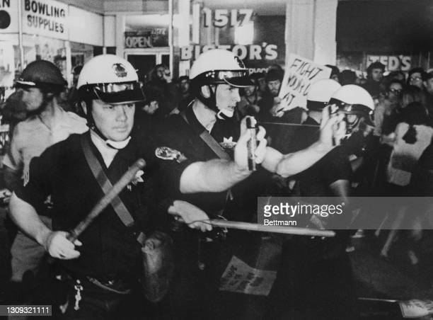 The chemical mace, which supplements the old fashioned police billy club as an anti-personnel weapon in riot control, was very much in evidence as...