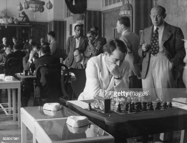 The Chess Player Salo Flohr at the International Chess Tournament of the Austrian Chess Federation Grand Hotel Panhans / Semmering September 1937...