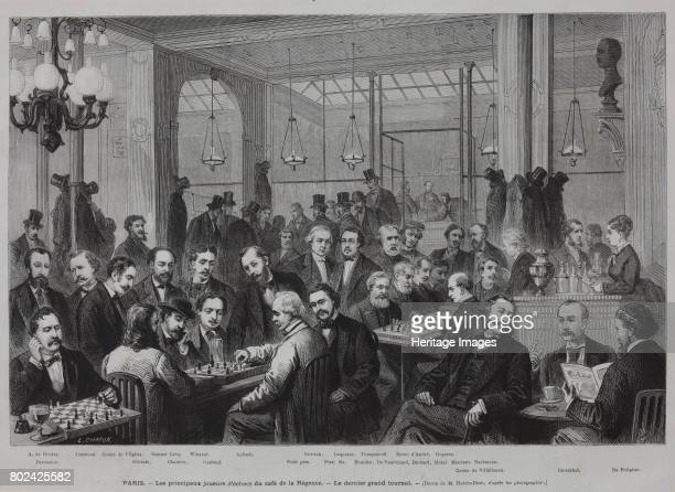The chess tournament at the CafÈ de la RÈgence 1874 Found in the collection of I Turgenev Memorial Museum Moscow