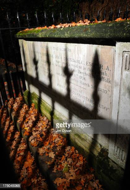 The chest tomb of landscape artist John Constable at St John-at-Hampstead Churchyard, on November 17, 2008 in London England. Dead Famous London is a...
