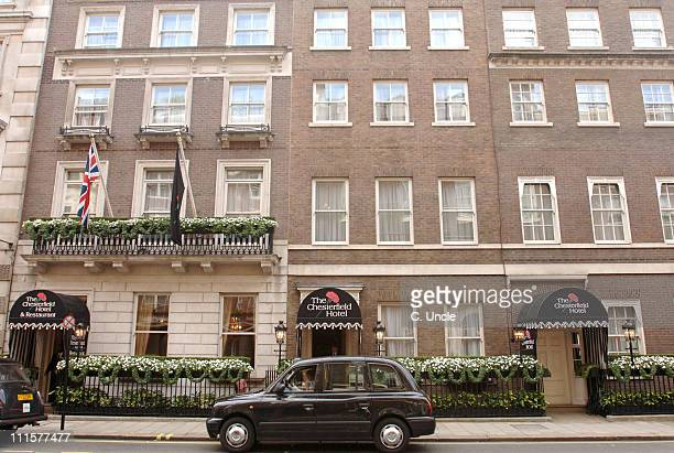 The Chesterfield Hotel during Sam Preston and Chantelle Houghton's Wedding Outside at Dartmouth House in London Great Britain