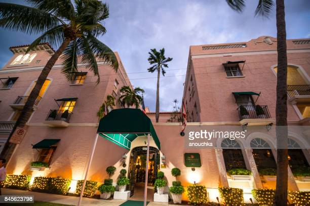 The Chesterfield Palm Beach hotel entrance, Palm Beach, Florida, USA