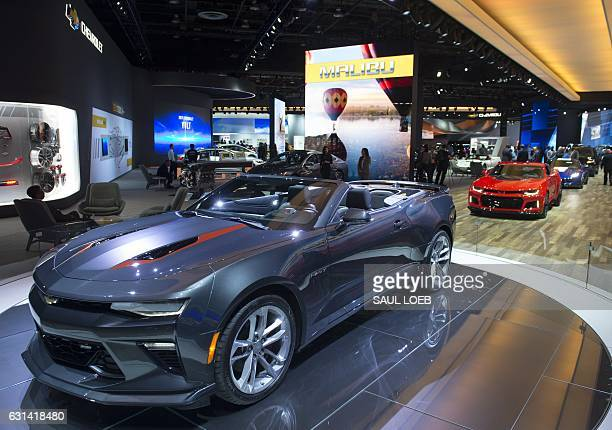 The Chevrolet Camaro is seen during the 2017 North American International Auto Show in Detroit Michigan January 10 2017 / AFP / SAUL LOEB