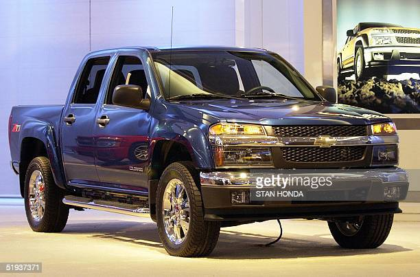 The Chevrolet Colorado Z71 truck with its flared fenders is displayed 11 January 2005 during the North American International Auto Show at Cobo Hall...