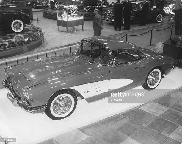 The Chevrolet Corvette sports car at the Earl's Court motor show.