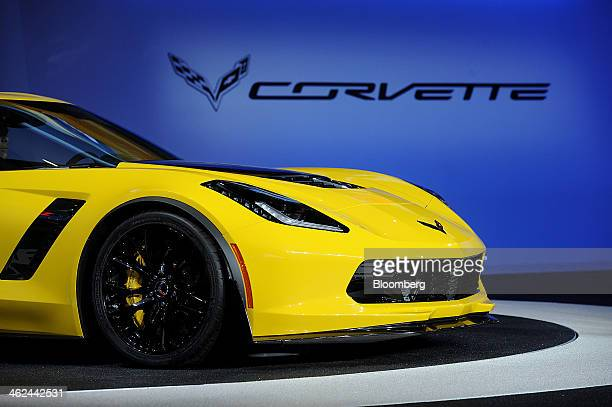 The Chevrolet Corvette Z06 is displayed during the the 2014 North American International Auto Show in Detroit Michigan US on Monday Jan 13 2014...
