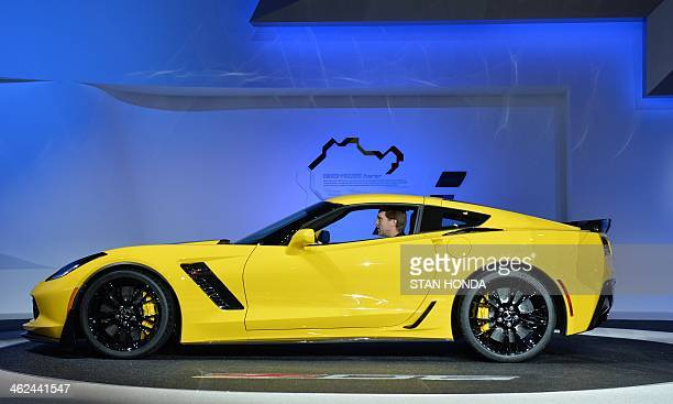 The Chevrolet Corvette Z06 is presented during a press preview at the North American International Auto Show January 13 2014 in Detroit Michigan AFP...