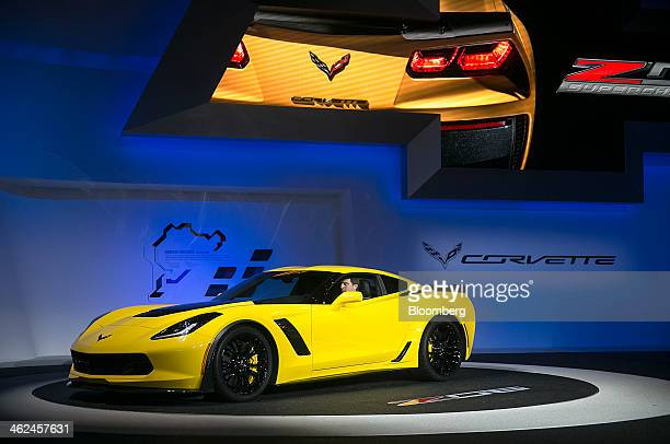 The Chevrolet Corvette Z06 is unveiled during the 2014 North American International Auto Show in Detroit Michigan US on Monday Jan 13 2014 General...