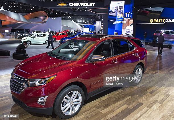 The Chevrolet Equinox SUV is seen during the 2017 North American International Auto Show in Detroit Michigan January 10 2017 / AFP / SAUL LOEB