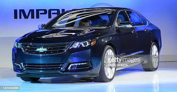 The Chevrolet Impala is viewed during the first day of press previews at the New York International Automobile Show April 4 2012 in New York AFP...