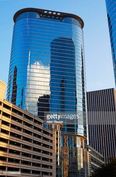 The 'Chevron building' skyscraper in Houston