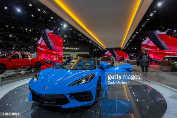 The Chevy Corvette is shown at AutoMobility LA on November 21, 2019 in Los Angeles, California. The four-day press and trade event precedes the Los...