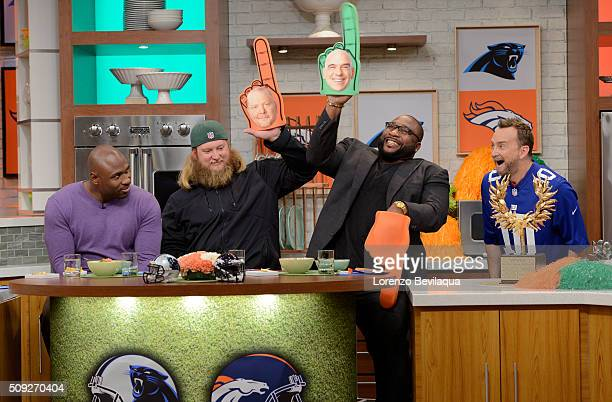 THE CHEW 2/5/16 'The Chew' prepares for Super Bowl Sunday with Nick Mangold Marcus Spears and Brandon Jacobs 'The Chew' airs MONDAY FRIDAY on the ABC...