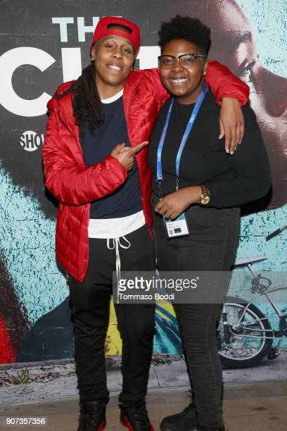'The Chi' creator/EP Lena Waithe and writer/director Dime Davis attend THE CHI Party presented by SHOWTIME and Amazon Channels at the IMDb Studio on...