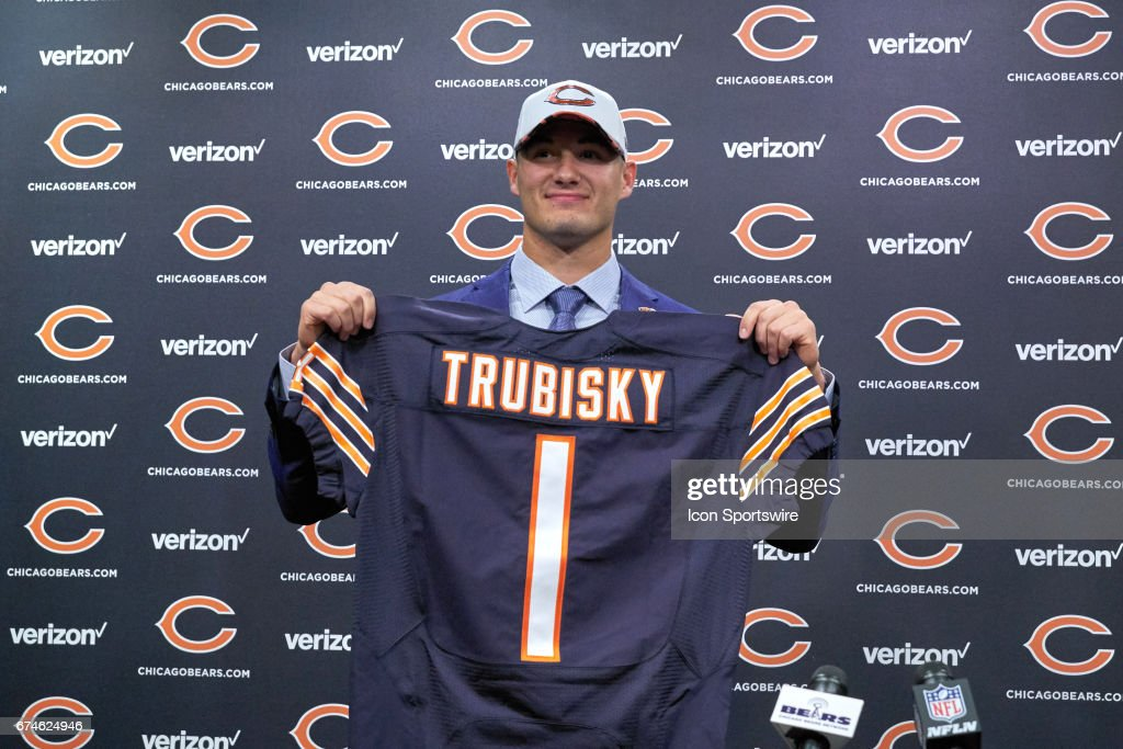 NFL: APR 28 Chicago Bears Mitchell Trubisky Press Conference : News Photo