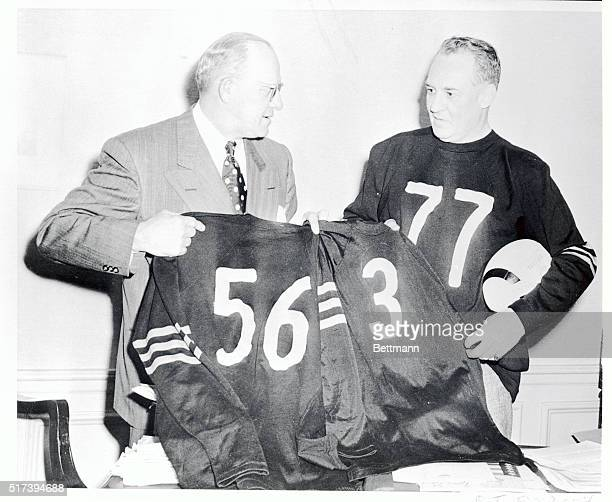 The Chicago Bears have retired the Jersey numbers of three of their most famed starsBronko Nagurski Bill Hewitt and Red Grange owner coach George...