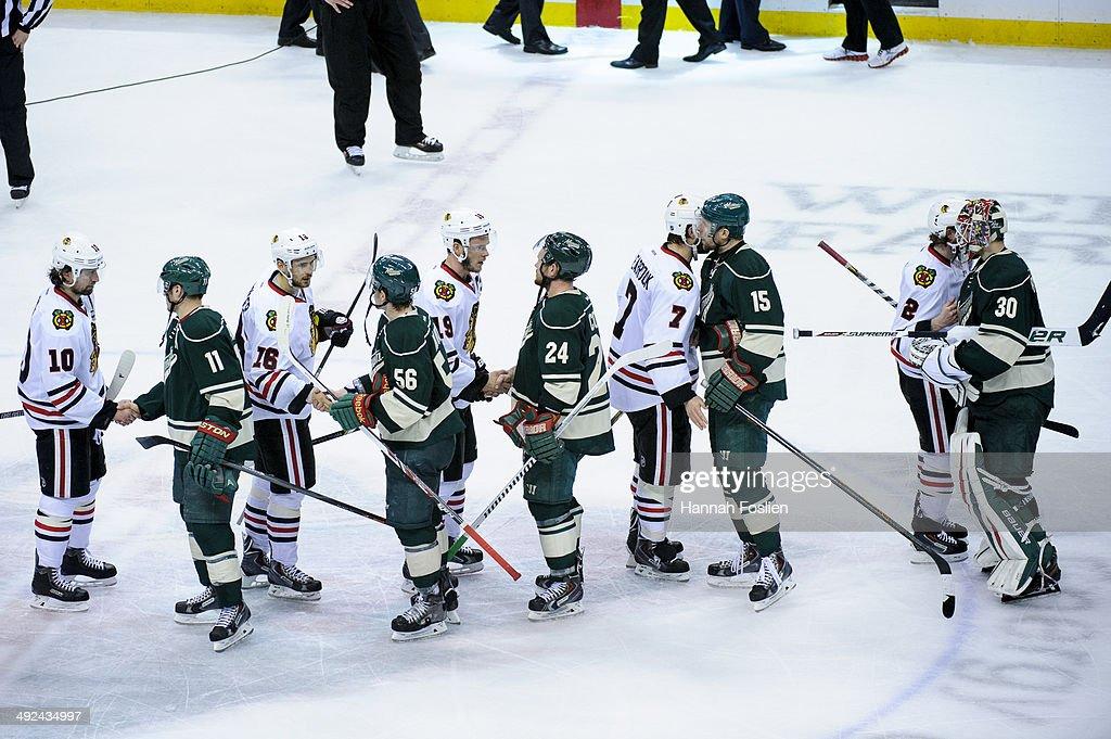 Chicago Blackhawks v Minnesota Wild - Game Six : News Photo
