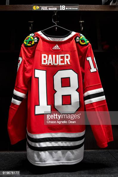 9a0daac56 The Chicago Blackhawks honor Chicago Police Commander Paul Bauer who...  News Photo - Getty Images