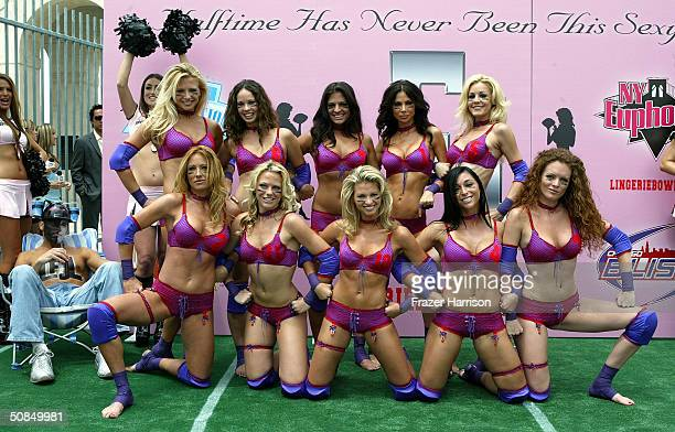 9be39e2ab The Chicago Bliss team pose together at The Lingerie Bowl announcement of  The Formation of The