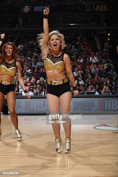 The Chicago Bulls dance team is seen against the Cleveland Cavaliers on April 9 2016 at the United Center in Chicago Illinois NOTE TO USER User...