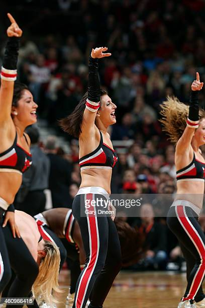 The Chicago Bulls dance team performs during a game against the Denver Nuggets on January 1 2015 at the United Center in Chicago Illinois NOTE TO...