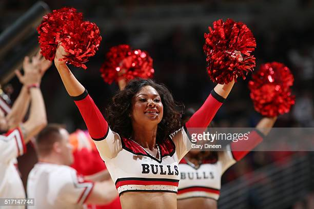 The Chicago Bulls dance team performs during the game against the New York Knicks on March 23 2016 at the United Center in Chicago Illinois NOTE TO...