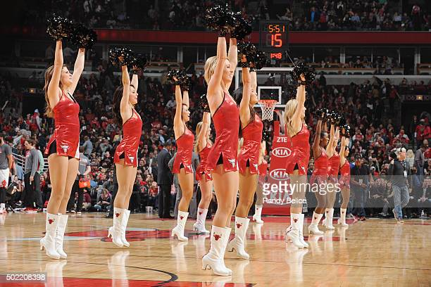 The Chicago Bulls dance team performs during the game against the Brooklyn Nets on December 21 2015 at the United Center in Chicago Illinois NOTE TO...