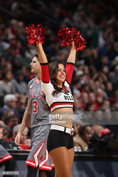 The Chicago Bulls dance team performs during the game against the Milwaukee Bucks on January 5 2016 at the United Center in Chicago Illinois NOTE TO...